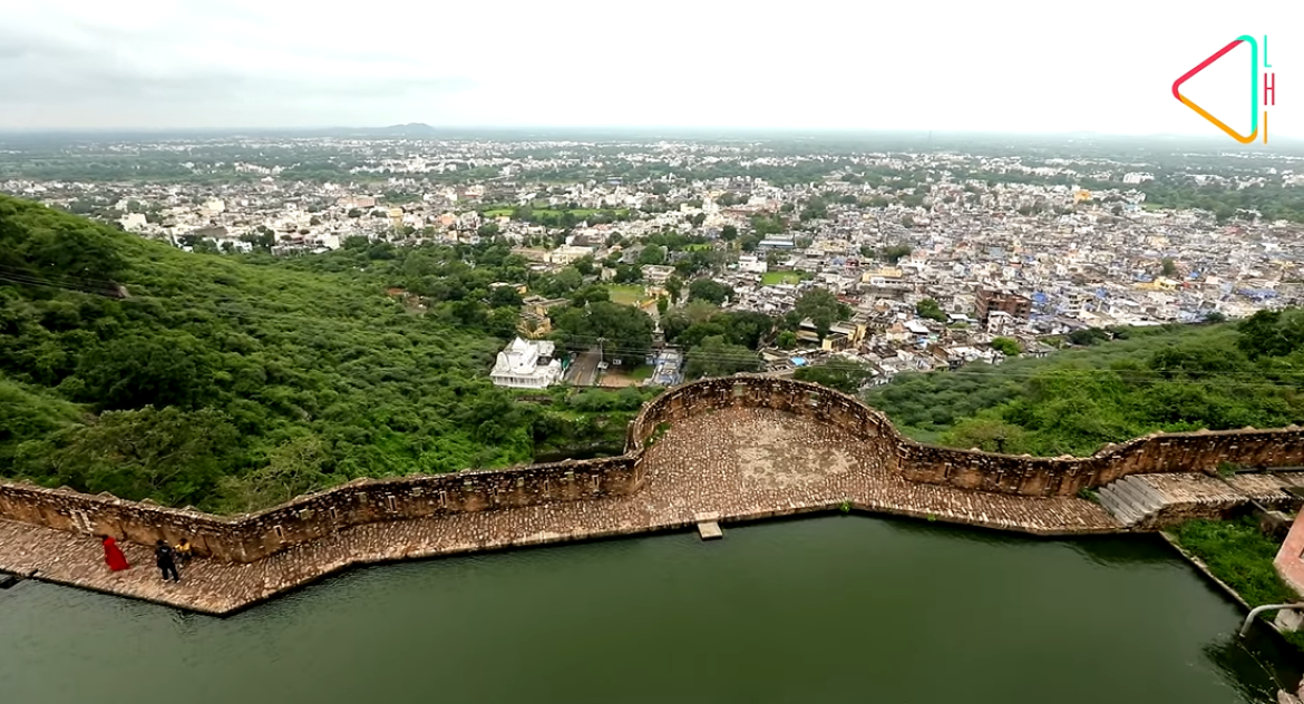 The city from Chittorgarh in present times