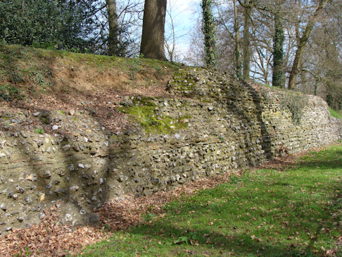 The Roman Fortification Walls at Verulanium