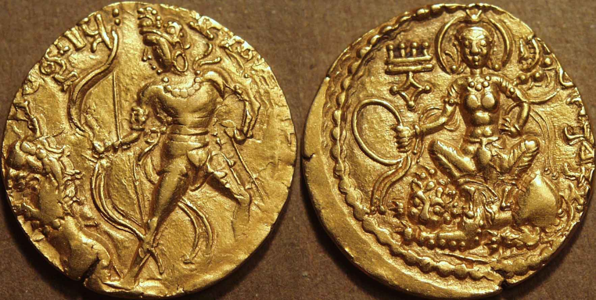 Gold dinar of Chandra Gupta II