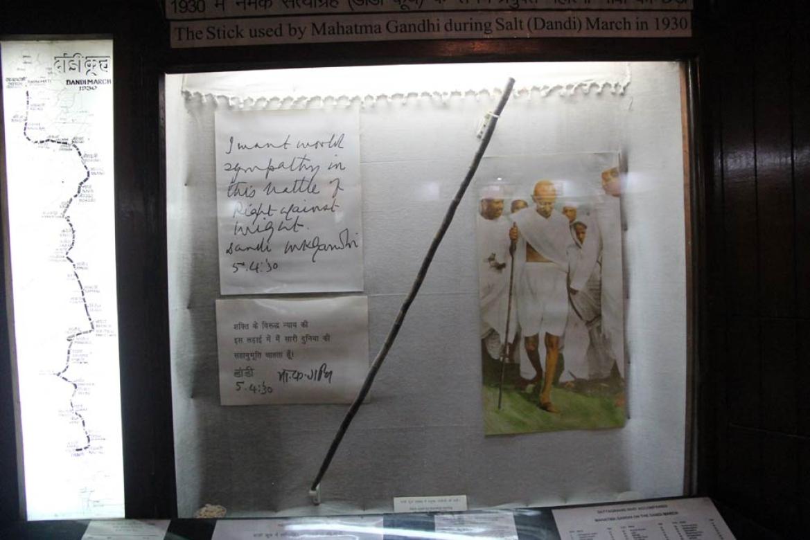 Gandhi's <i>lathi </i>on display