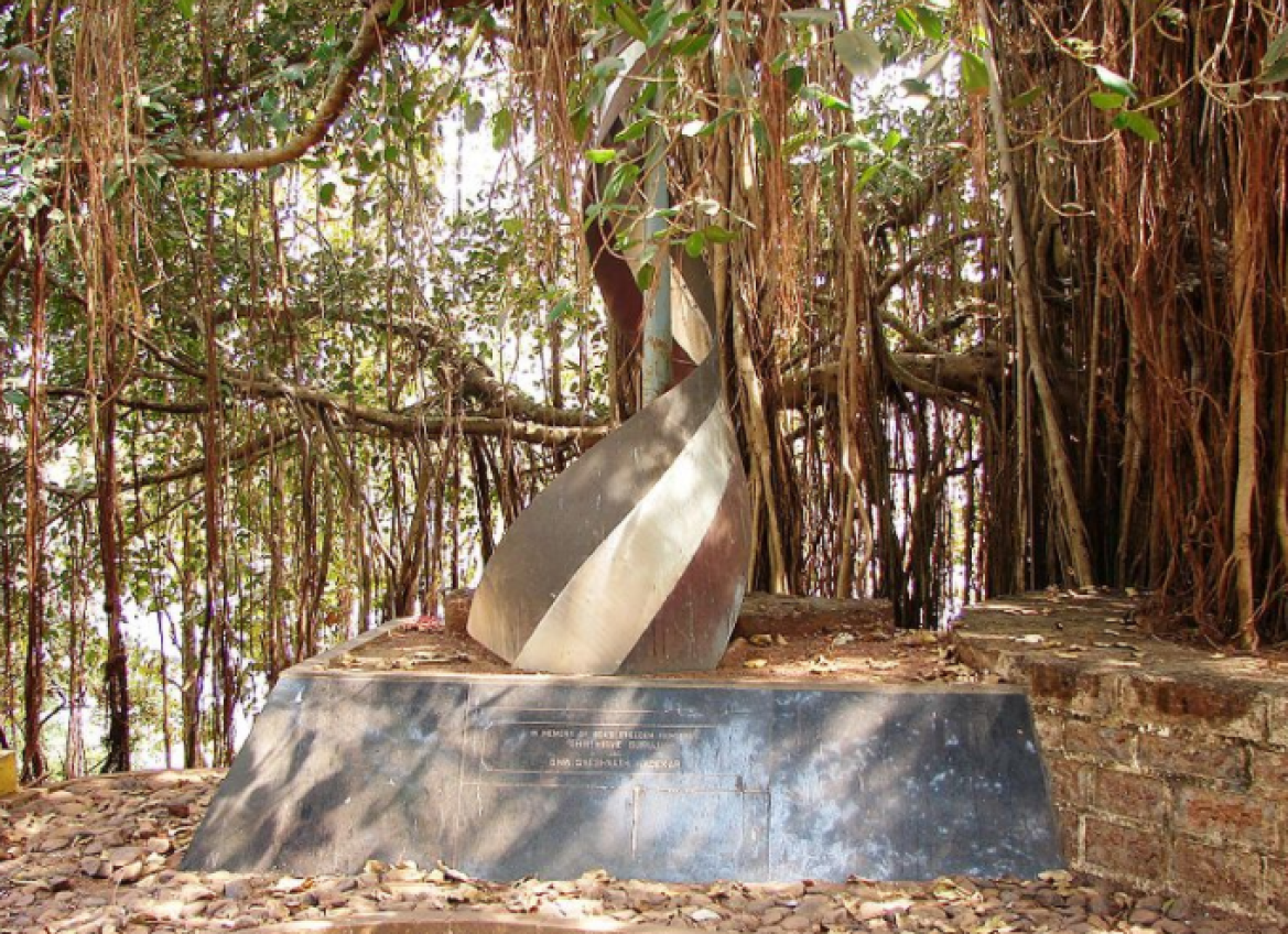 Memorial to freedom fighters in Tiracol