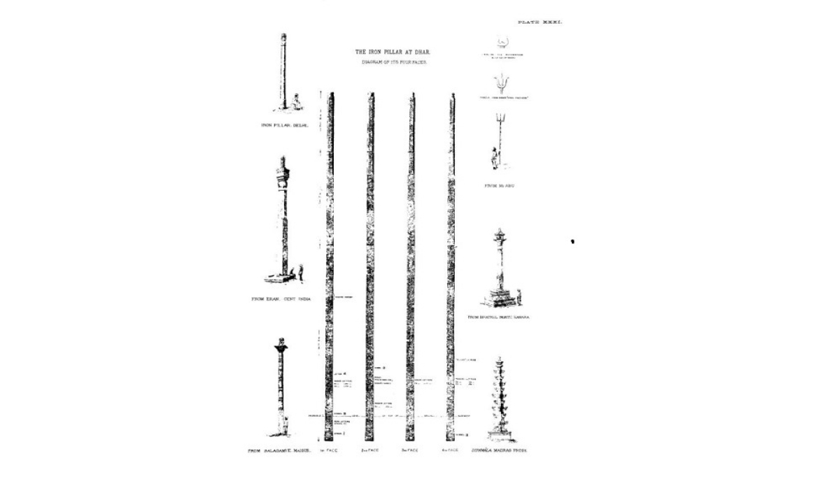 Henry Cousens's diagram of the pillar, 1902-03