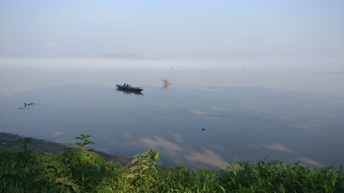 Early morning view of River Brahmaputra in Guwahati