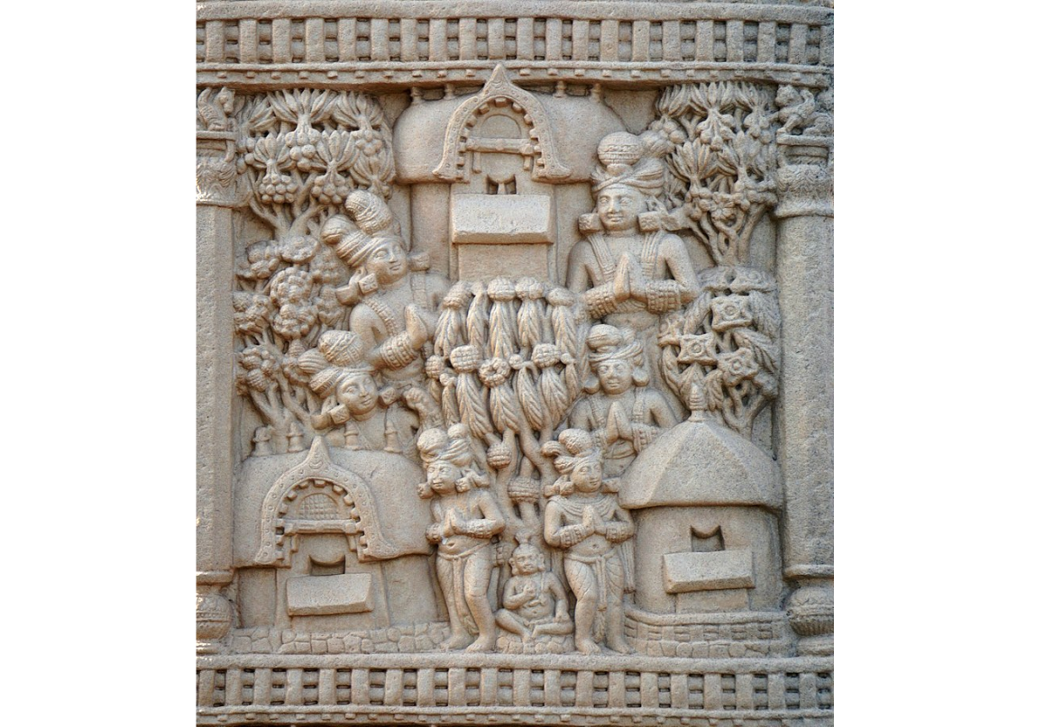 The Jetavana at Shravasti as depicted at Sanchi