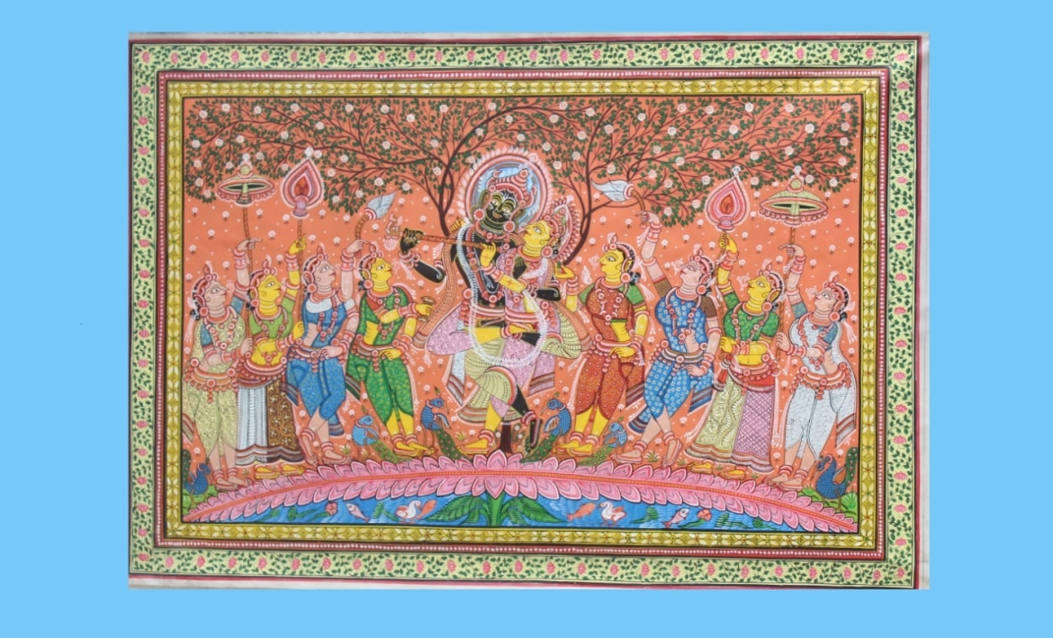 Pattachitra depicting Radha Krishna