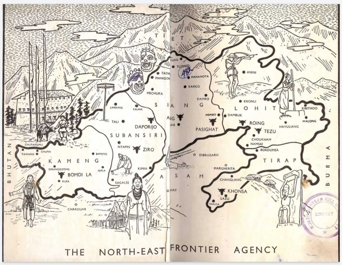 Map of NEFA in Elwin's book