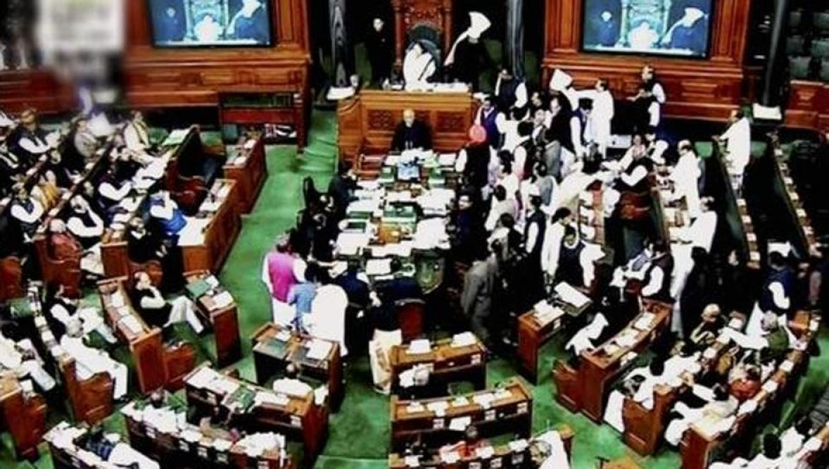 Protest staged by Congress, Trinamool, TDP rocks Lok Sabha
