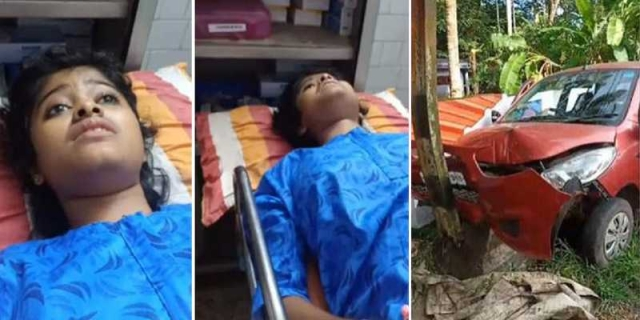 Kerala girl who sold fish in uniform sustains injuries in car accident, undergoes for surgery