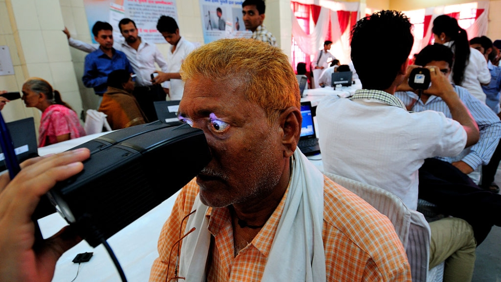 File photo of a registration camp for Aadhar cards in New Delhi