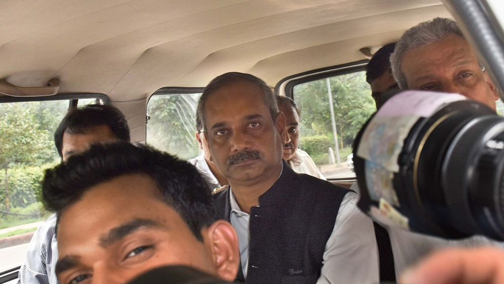 File photo of former Delhi Principal Secretary, IAS officer Rajendra Kumar being produced at Patiala House Court in a case of alleged corruption in July, 2016