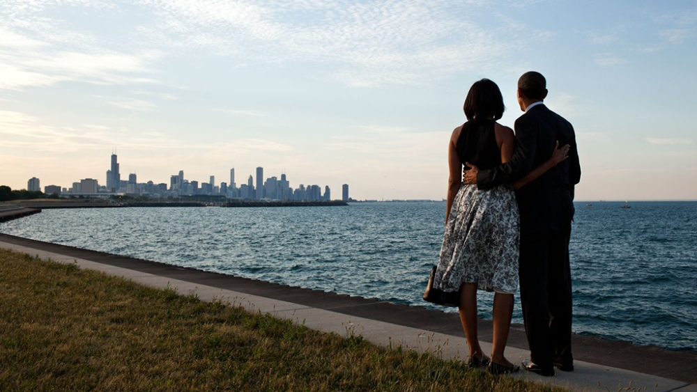 President Barack Obama and First Lady Michelle Obama in Chicago, before the President delivered his farewell from office address to the United States