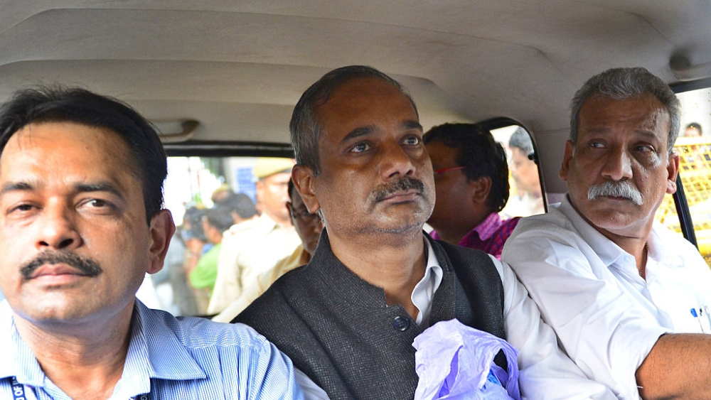 File photo of former Delhi Principal Secretary Rajendra Kumar being produced at Patiala House Court, Delhi after his arrest by the CBI on charges of corruption in July, 2016