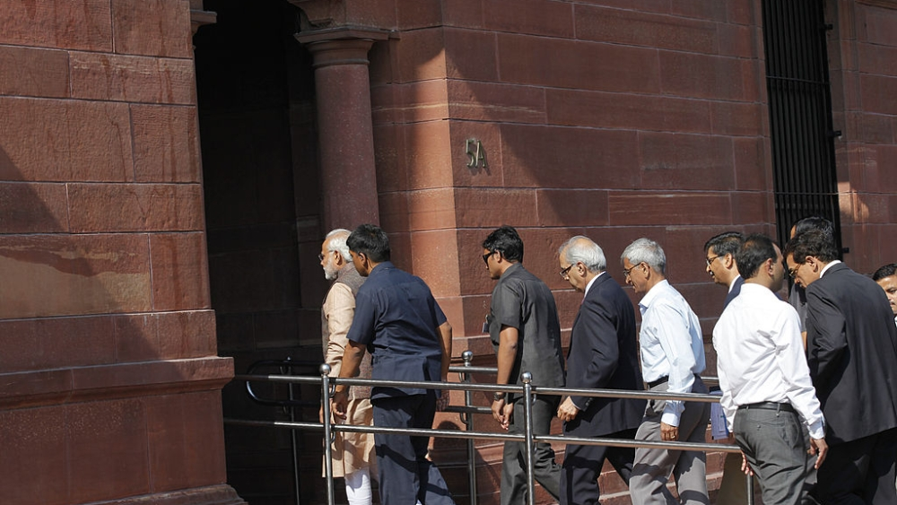 File photo of Prime Minister Narendra Modi arriving at the PMO