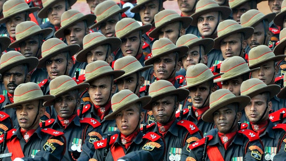 Representational image. Army jawans march during a Republic Day parade in Delhi