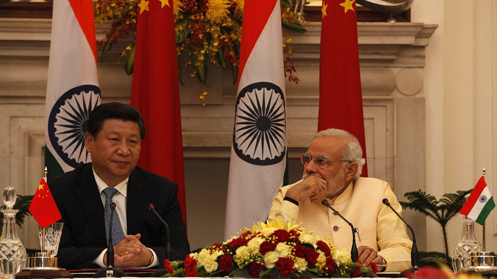 A file picture of Chinese President Xi Jinping with Prime Minister Narendra Modi in New Delhi during a bilateral visit in 2014