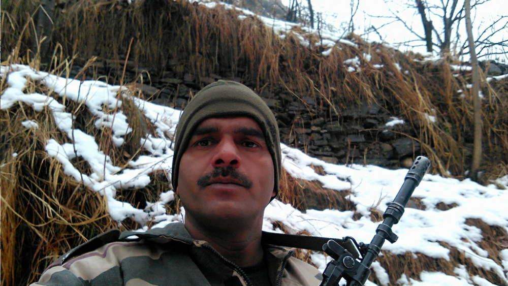 File photo of BSF constable Tej Bahadur Yadav, who had criticised the poor quality food being served to troops in a video he had posted on Facebook in January