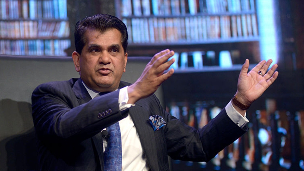 """File photo of Niti Aayog Chief Executive Officer Amitabh Kant. The bureaucrat brazenly maintained that the """"numbers have been reconciled and double-checked by our IT department"""""""