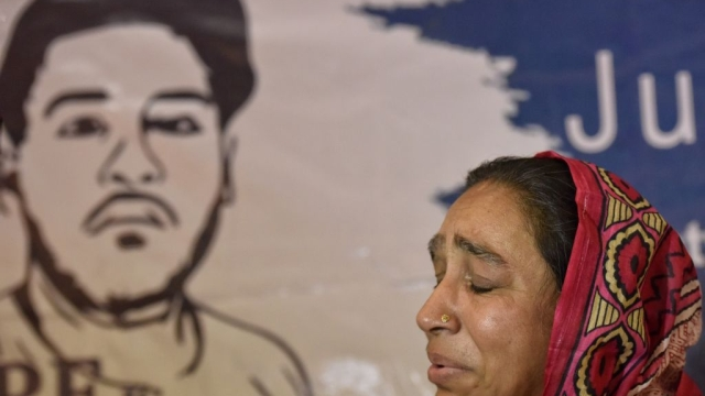 File photo of Fatima Nafees, mother of missing JNU student Najeeb Ahmad