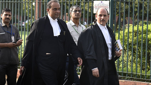 File photo of Attorney General Mukul Rohatgi (left) with the BJP leader and lawyer Nalin Kohli. Attorney General Mukul Rohatgi led India's delegation to UNHRC