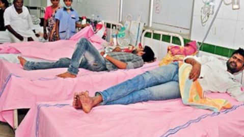 BJP protests over pink bed sheets in Telangana hospitals