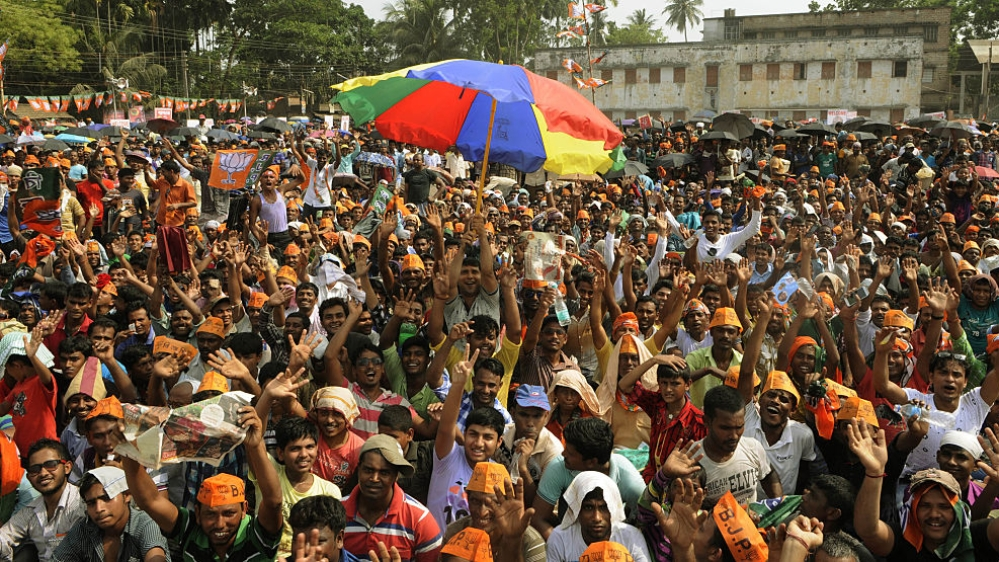 File photo of BJP election rally in 24 North Parganas, West Bengal during Assembly election in 2016