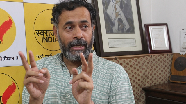 National president of Swaraj  India, Yogendra Yadav (file photo)