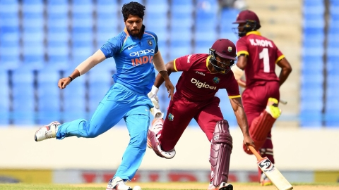 India fails to chase down 189, loses to West Indies