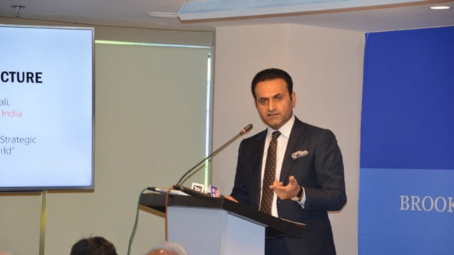 A file photo of Afghanistan's envoy to India, Shaida Mohammad Abdali, speaking at an event in New Delhi in April this year