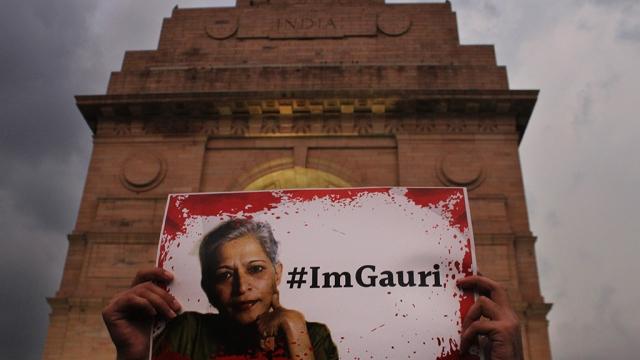 Protest against the murder of Gauri Lankesh