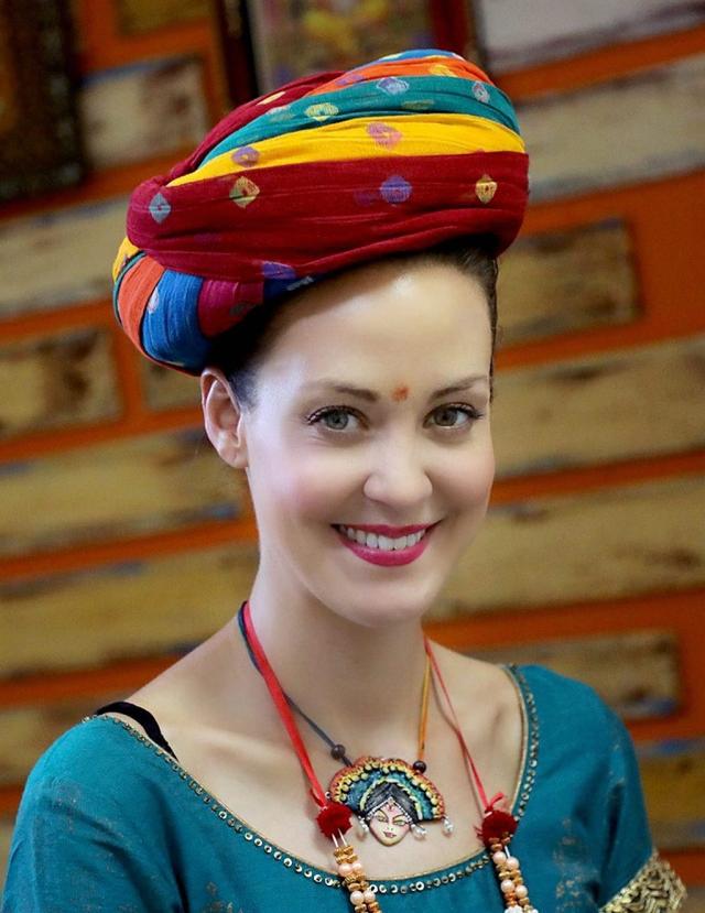 International model and fashion designer Danielle Pettee in Jodhpur.