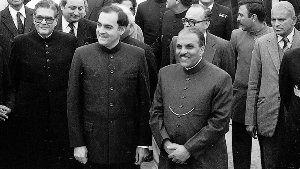 Rajiv Gandhi with Zia-ul-Haq