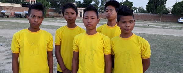Boys from North Eastern states all set to attend the RSS Shakha in Keshav Dham, Vrindavan