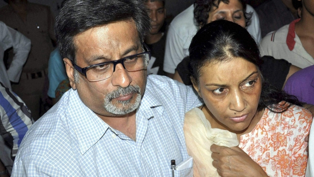 A file photo of Nupur and Rajesh Talwar