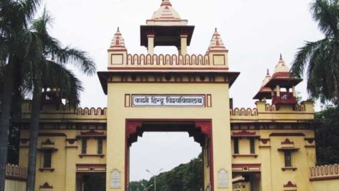 BHU official made to quit after she removes RSS flag