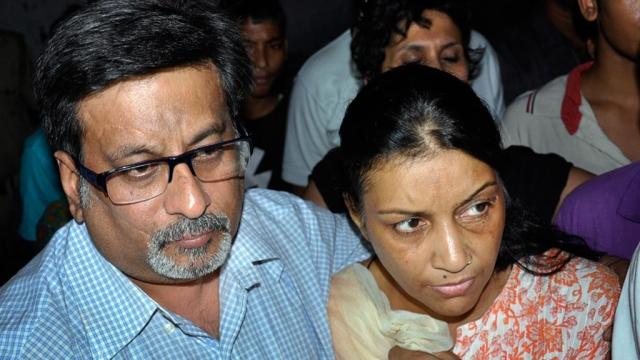 File photo of Aarushi's parents Ramesh Talwar and Nupur Talwar