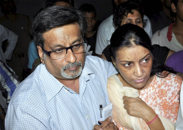 File photo of dentist couple Nupur Talwar and Rajesh Talwar, who were  acquitted by the Allahabad High Court in the twin murder case of their daughter Aarushi and domestic help Hemraj.
