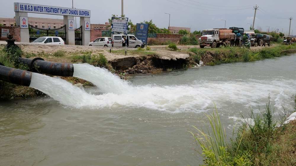 File photo of a water treatment plant in Gurugram