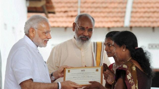 Prime Minister Narendra Modi in Jaffna during his visit to Sri Lanka in March 2015