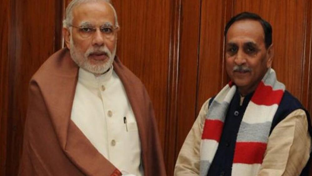 File photo of PM Modi and Gujarat CM Vijay Rupani