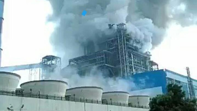 The scene after the blast at NTPC's Unchahar power plant.