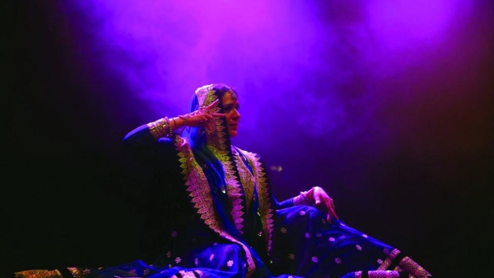Sufi Kathak dancer Manjari Chaturvedi performs at Jashn-e-Rekhta in New Delhi.