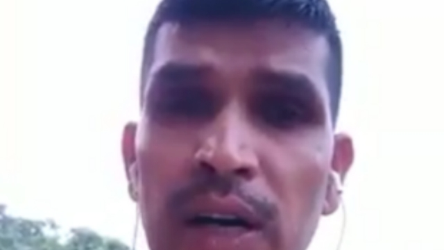 A screenshot from the video released by Lance Naik Yagya Pratap Singh