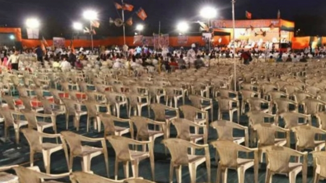 Empty chairs at PM Modi's rally in Gujarat