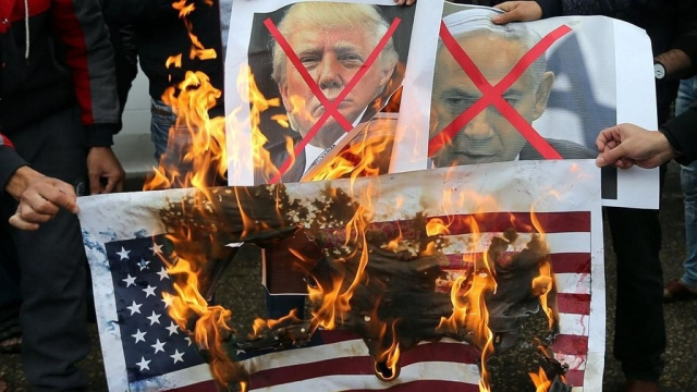 US President Donald Trump's decision to recognise Jerusalem as Israel's capital sparked protests in the Gaza Strip on Wednesday