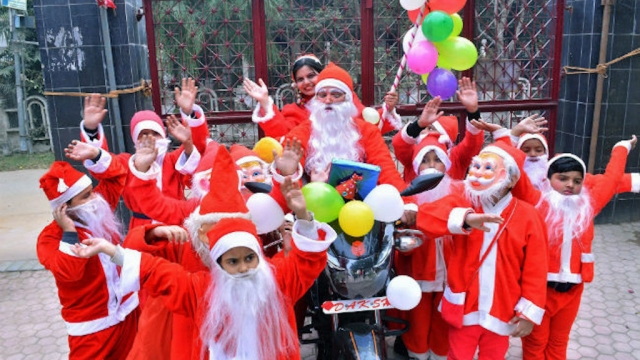 christmas celebration in mathura india