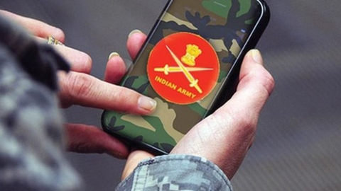 Undated video shows Army destroying cell-phones of its jawans