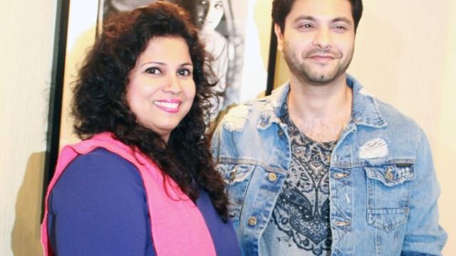 Bollywood singer Hema Sardesai with the TV actor Mishaal Raheja
