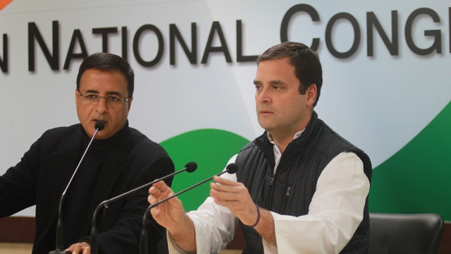 Congress President Rahul Gandhi addressing press conference at AICC