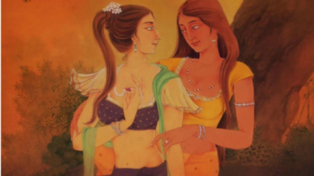 Traditional artwork displayed at Kalabimb18