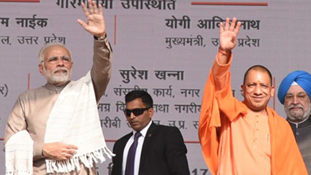 File photo of PM Narendra Modi (left) with Uttar Pradesh Chief Minister Yogi Adityanath